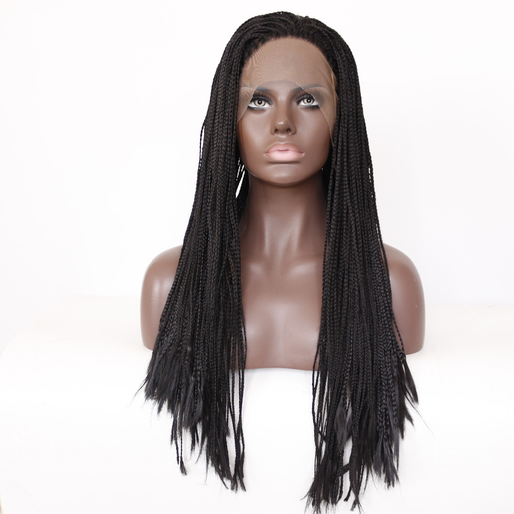 Handemade Straight Synthetic Lace Front Wig For African American