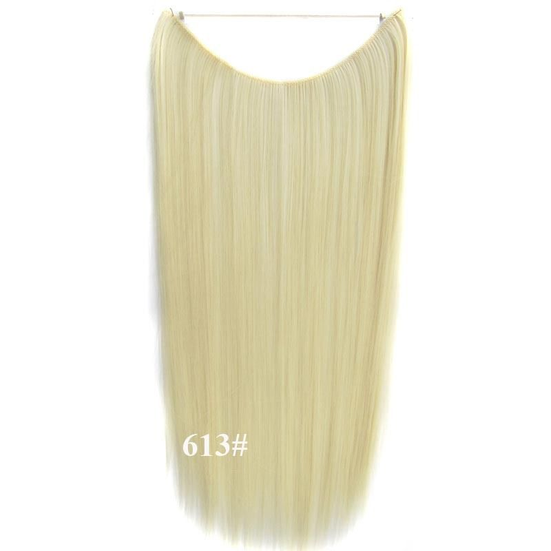 Hidden Halo Invisible Wire Hairpiece Secret Miracle Hair Extensions Straight 50g 10