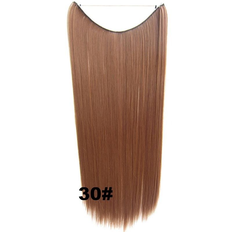 Hidden Halo Invisible Wire Hairpiece Secret Miracle Hair Extensions Straight 50g 16