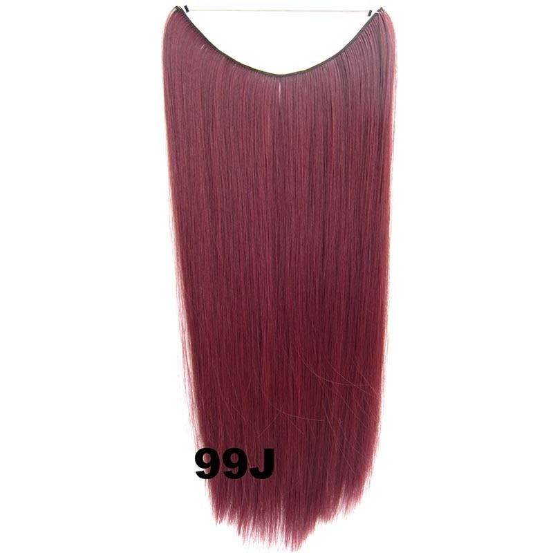 Hidden Halo Invisible Wire Hairpiece Secret Miracle Hair Extensions Straight 50g 19