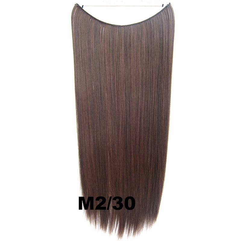 Hidden Halo Invisible Wire Hairpiece Secret Miracle Hair Extensions Straight 50g 29