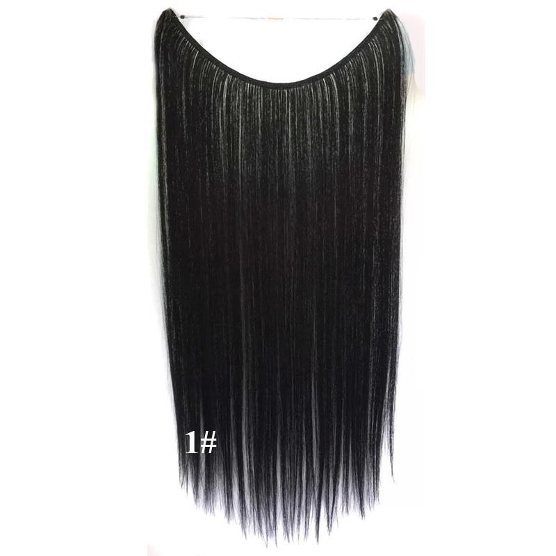 Hidden Halo Invisible Wire Hairpiece Secret Miracle Hair Extensions Straight 50g 31