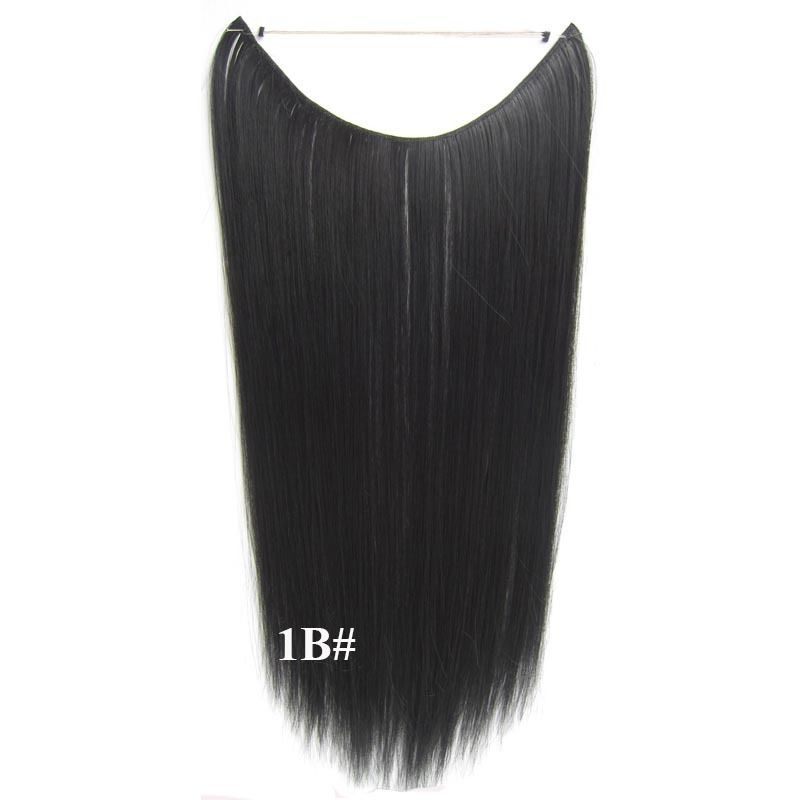 Hidden Halo Invisible Wire Hairpiece Secret Miracle Hair Extensions Straight 50g 32