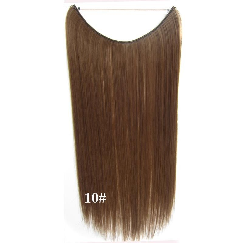 Hidden Halo Invisible Wire Hairpiece Secret Miracle Hair Extensions Straight 50g 5