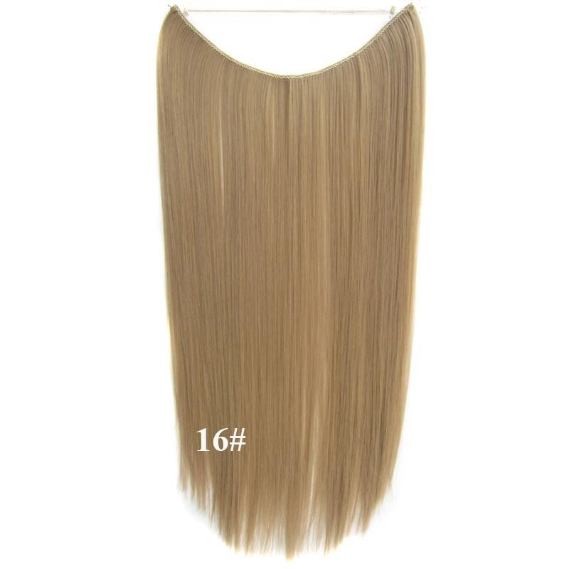Hidden Halo Invisible Wire Hairpiece Secret Miracle Hair Extensions Straight 50g 7