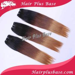 "Hot Sale Ombre Hair Extensions #1b/4#/#27 3 Tone Color Mixed 16""/18""/20""each Size 1pcs"