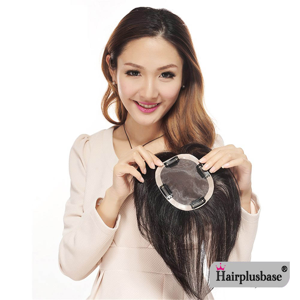 Human Hair Women Lace Top Piece Closures Incognito Invisible Head Replacement Sheet Topper Hairpiece