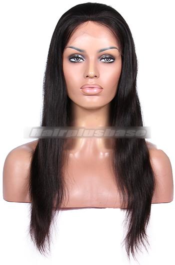 Full Thin Skin Wigs 100% Human Hairs Silky Straight
