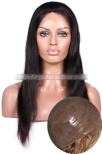 Silky Straight 100% Human Hair Full Thin Skin Wigs {Custom Wig Production Time 30 working days}