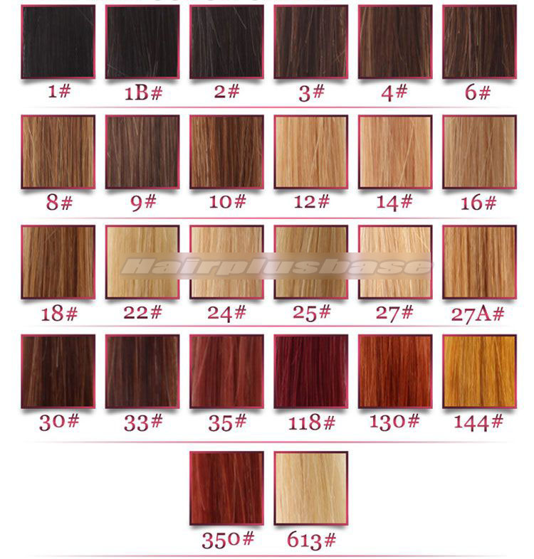 Indian Remy Hair Full Lace Wigs Natural Straight Mixed Brown Color 2