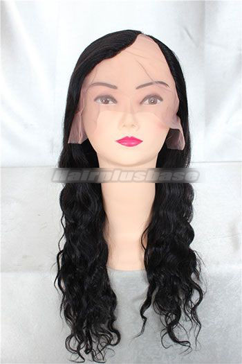 Indian remy hair u part wigs natural wave