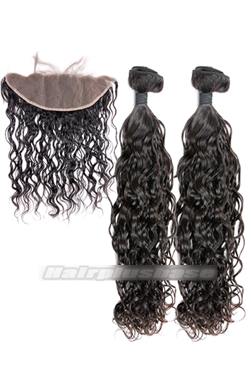 Loose Curl 6A Virgin Hair Lace Frontal with 2 Weaves Bundles Deal
