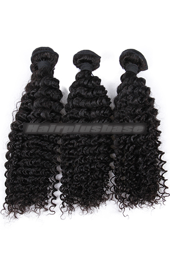 10-26 Inch Deep Wavy 6A Virgin Human Hair Weft 3 Bundles