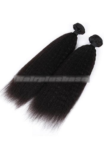 Indian Virgin Hair Weaves Kinky Straight 3 Bundles Deal