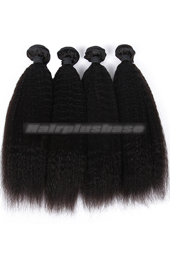 10-26 Inch Kinky Straight 6A Virgin Hair Weaves 4 Bundles Deal