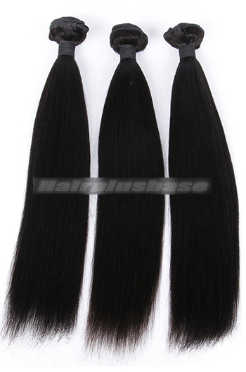 10-26 Inch Yaki Straight 6A Virgin Hair Weaves 3 Bundles Deal