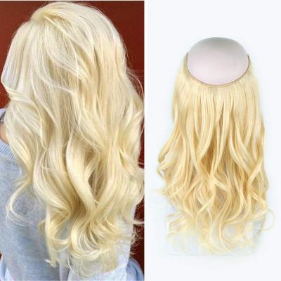 Invisible Halo Human Hair Extensions #613 Body Wave/Straight