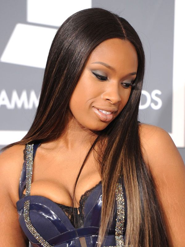 Jennifer Hudson Long Sleek Luxury Brazilian Virgin Hair Black With