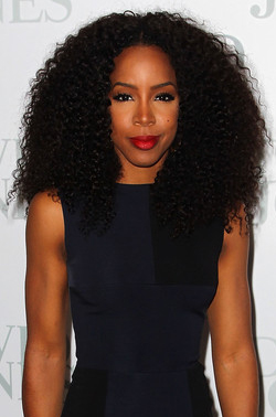 Kelly Rowland Natural Black Hair Jerry Curl Lace Wigs