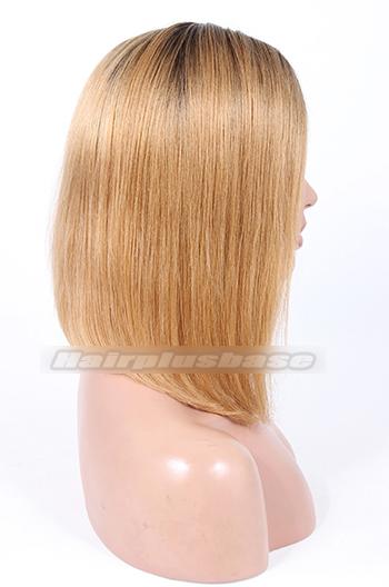 Keri Hilson Shoulder Length Angled Bob Ombre Blonde Celebrity Lace Wigs