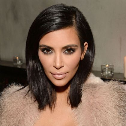 Kim K Style Glueless Lace Front Wigs Indian Remy Hair Side Part Light Yaki Straight Bob Wigs