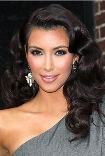 Kim Kardashian Deep Body Wavy Style Brazilian Virgin Human Hair Lace Wigs