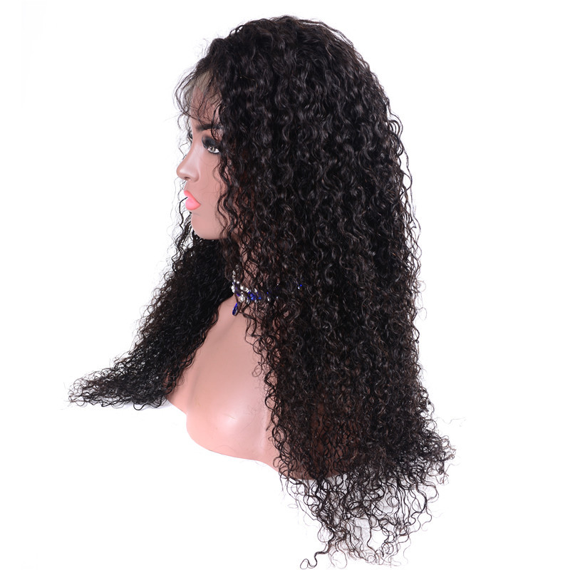 Kinky Curly 180% Density 4x4 Lace Front Wigs Pre-Plucked With Baby Hair 2
