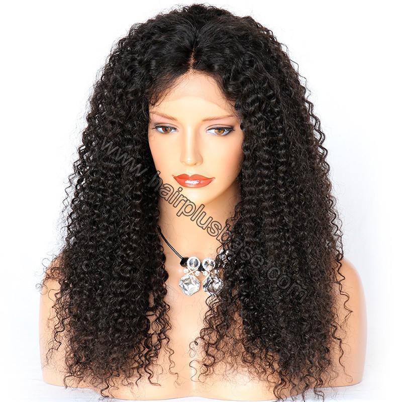 Kinky Curly Glueless Lace Front Wigs Brazilian Virgin Human Hair 1