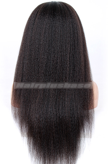 22 Inch Kinky Straight Chinese Virgin Hair Full Lace Wigs