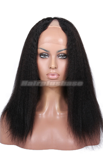 Kinky Straight Indian Remy Hair U Part Wigs