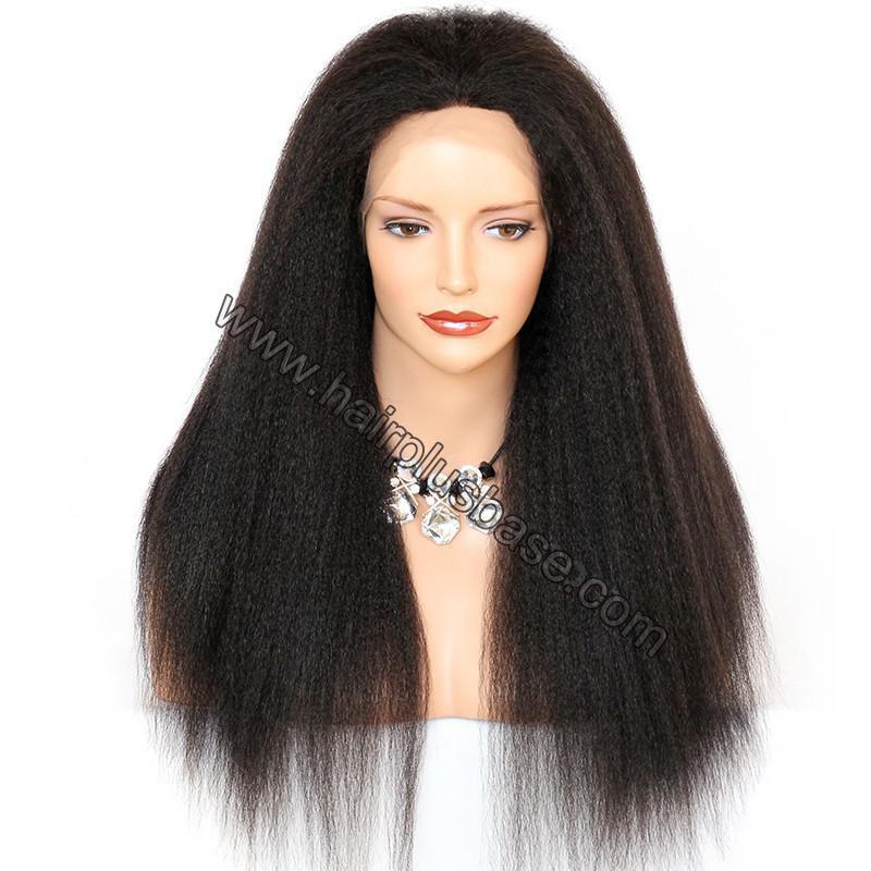 Kinky Straight Lace Front Wigs 100% Brazilian Virgin Human Hair 1