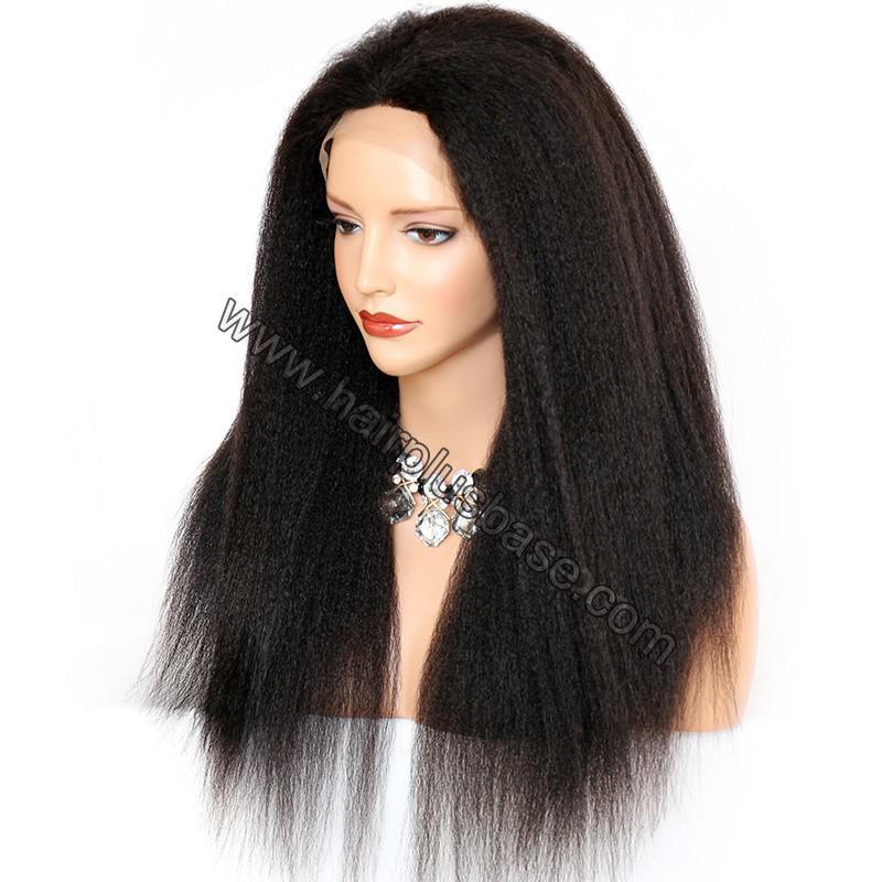Kinky Straight Lace Front Wigs 100% Brazilian Virgin Human Hair 3