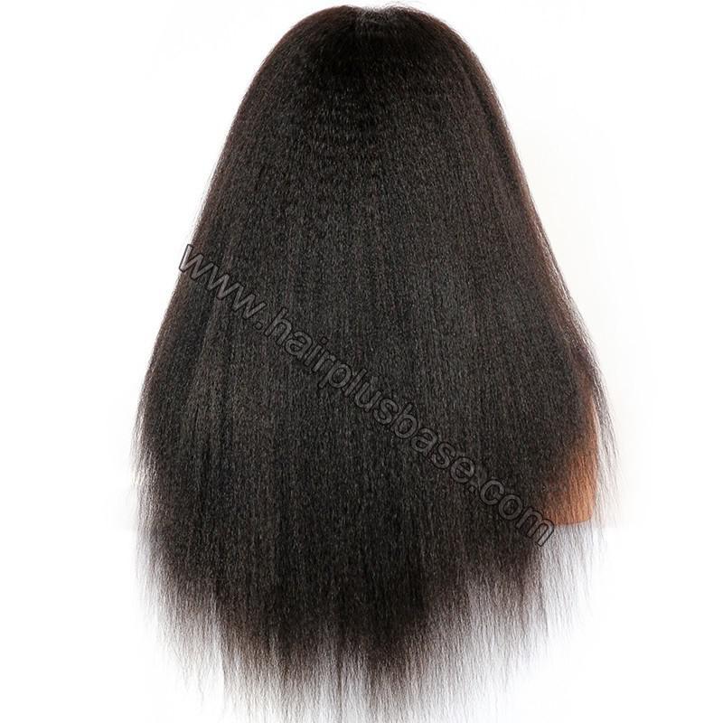 Kinky Straight Lace Front Wigs 100% Brazilian Virgin Human Hair 7