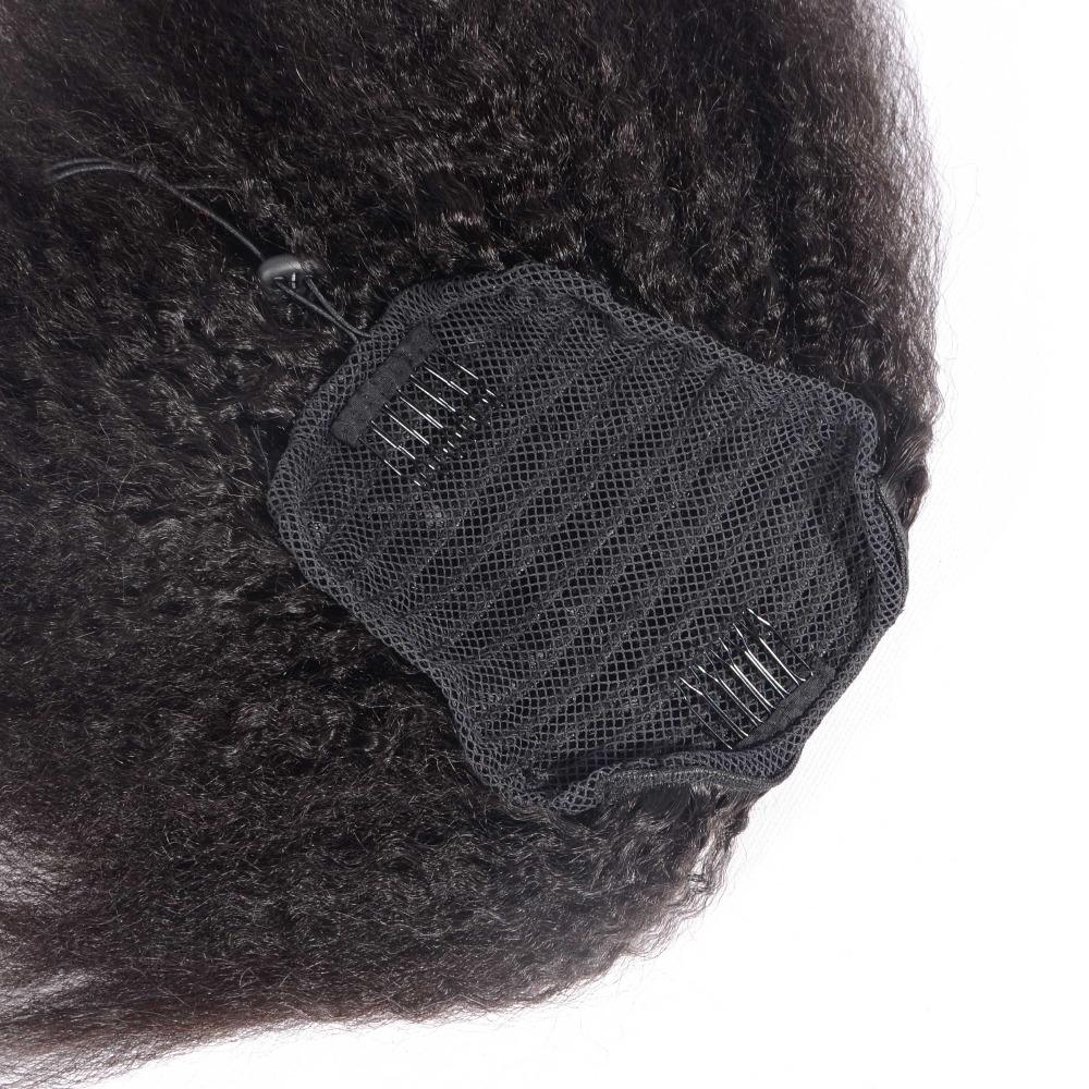 Kinky Straight Ponytail Human Hair Drawstring Ponytail Extensions 2