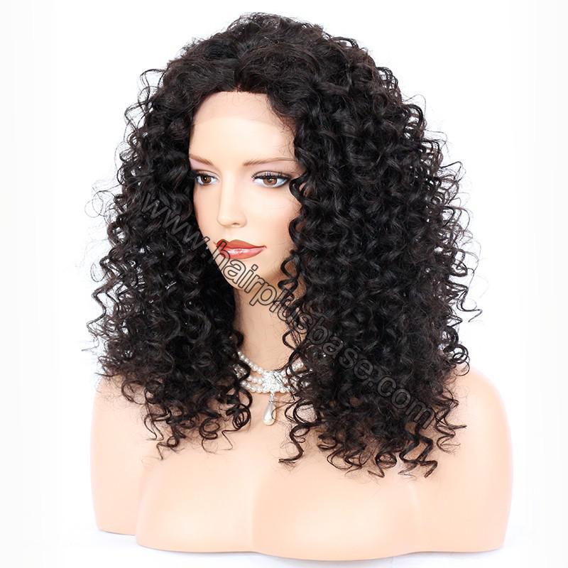 Lace Front Wigs Brazilian Virgin Human Hair Deep Curly 2