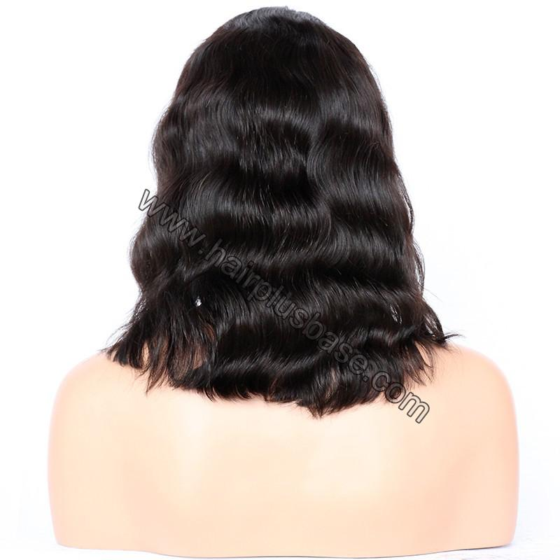 Lace Front Wigs Indian Remy Hair Natural Wave Short Bob Wig 5