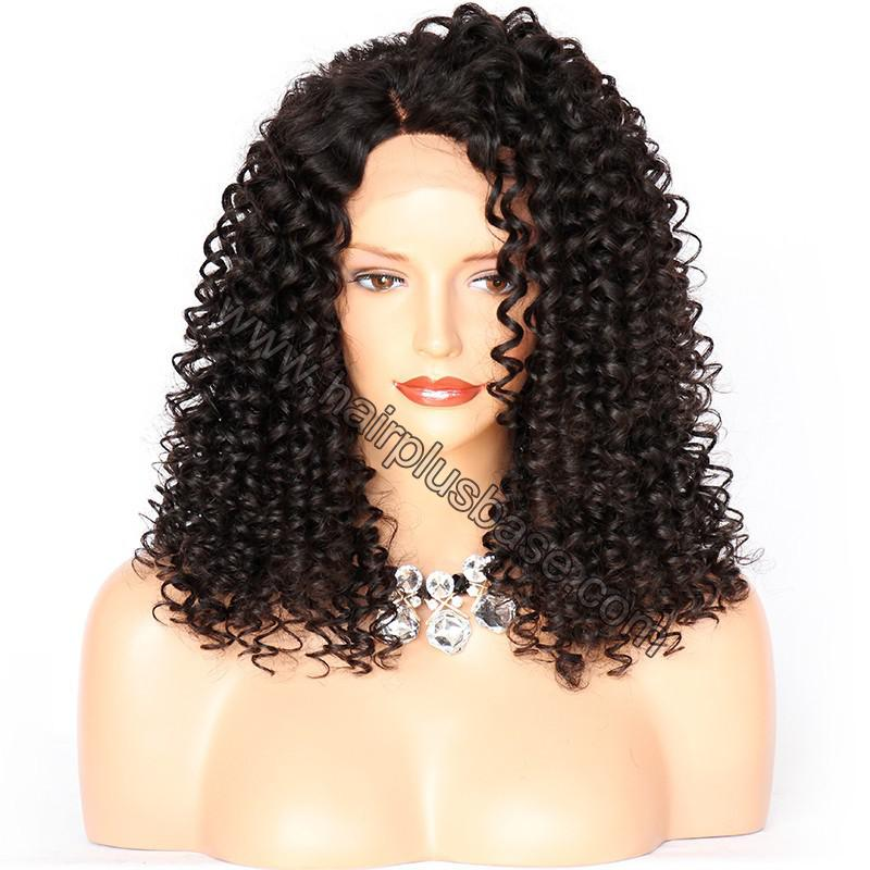 Lace Front Wigs Peruvian Virgin Human Hair 15mm Curl