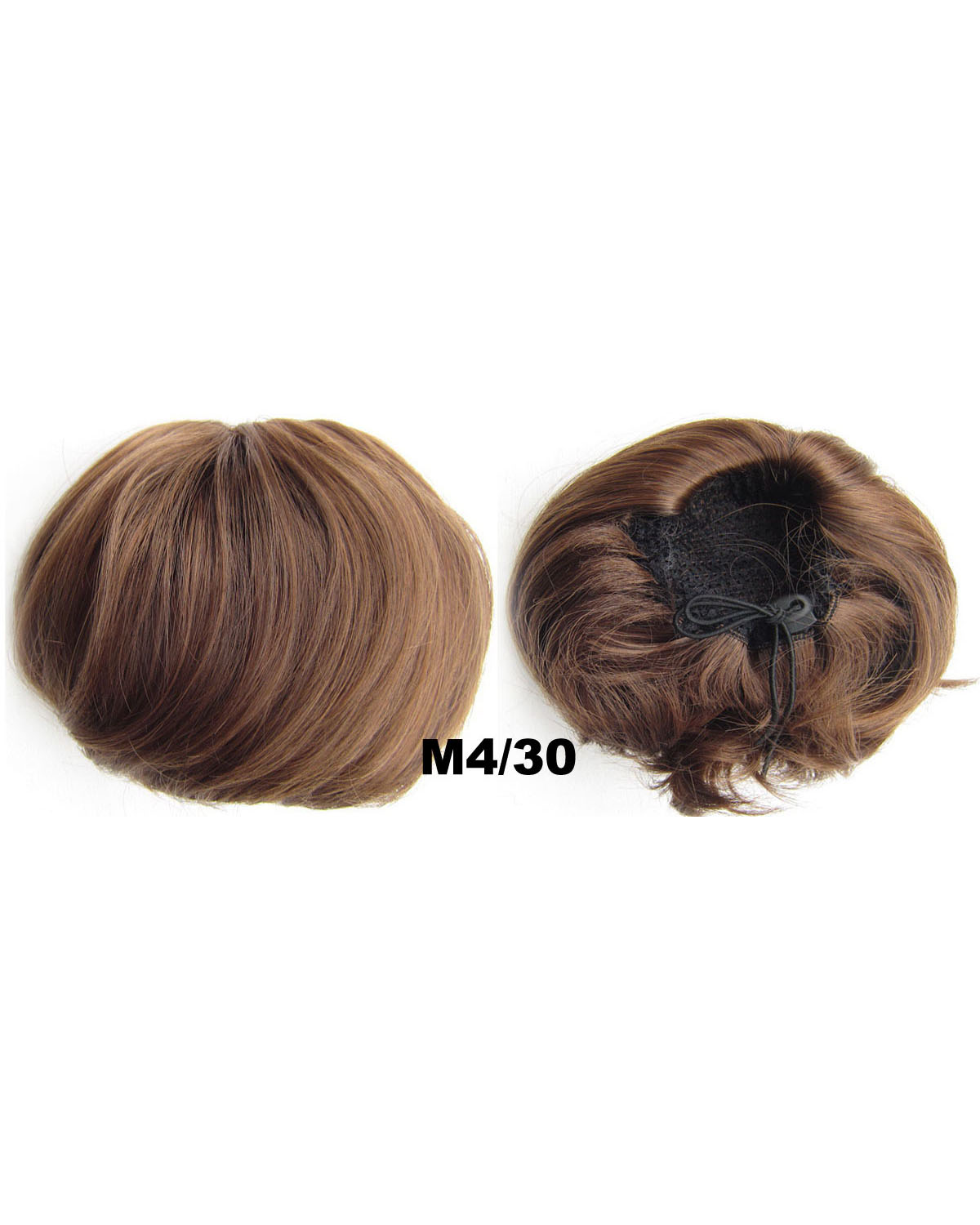 Ladies  Adjustable Straight Short Hair Buns Drawstring Synthetic Hair Extension Bride Scrunchies M4/30