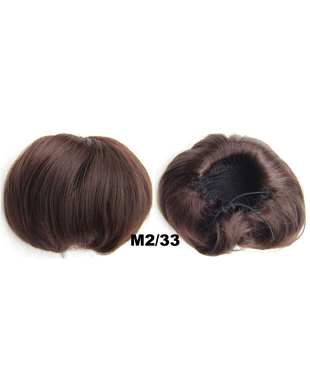 Ladies Amazing Straight Short Hair Buns Drawstring Synthetic Hair Extension Bride Scrunchies M2/33