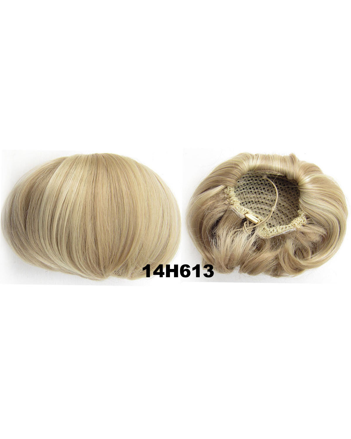 Ladies Exquisite Straight Short Hair Buns Drawstring Synthetic Hair Extension Bride Scrunchies  14H613