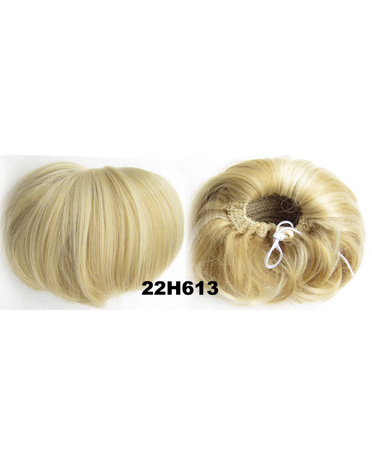 Ladies Fine Straight Short Hair Buns Drawstring Synthetic Hair Extension Bride Scrunchies 22H613