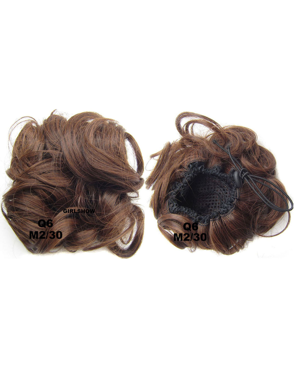 Ladies Grand Curly and Short Hair Buns Drawstring Synthetic Hair Extension Bride Scrunchies M2/30