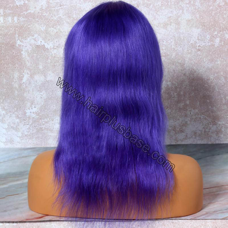 Lavender Hair  Full Lace Wigs Natural Straight, 120% Density, Indian Remy Hair 1