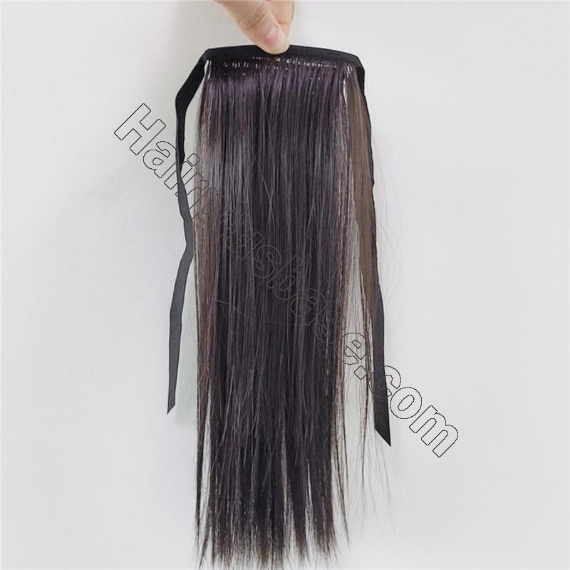 Little Girl Lace/Ribbon Ponytail Extension Human Hair 2