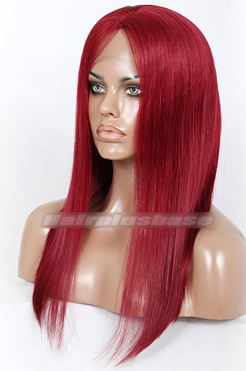 14inches 150% thick density long bob red wig