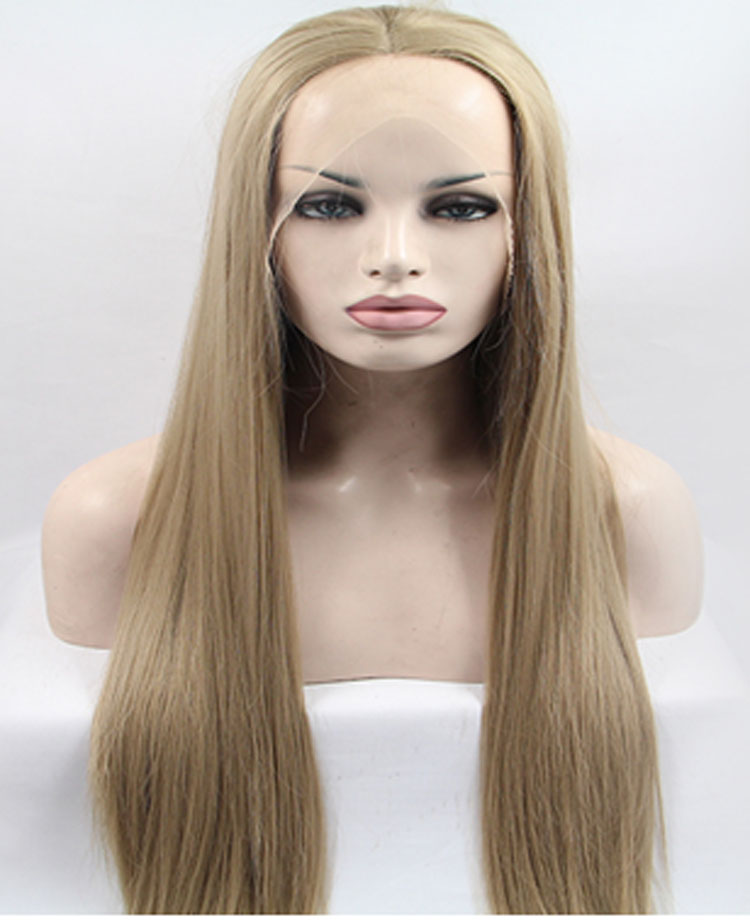 Long Ombre Silk Straight Lace Front Wigs