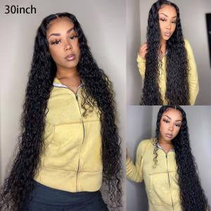 Loose Curl 24-40 Inch Human Hair 13*6 Lace Front Wigs With Baby Hair