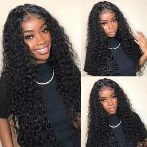 Loose Curl 24-40 Inch Human Hair Lace Front Wigs With Baby Hair