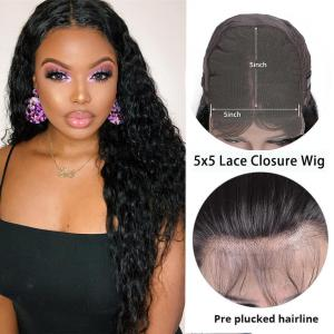 Loose Curl 5*5 Lace Closure Wigs 8-40 Inch Long Closure Wigs 180% Density