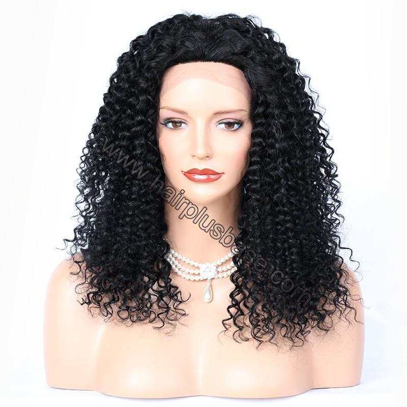 Loose Curly Lace Front Wigs Brazilian Virgin Human Hair 1